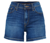 High Waist Jeans Short blue denim