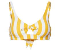 Bikinitop 'Giorgio' gelb / weiß