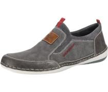 Slipper braun / grau / rot