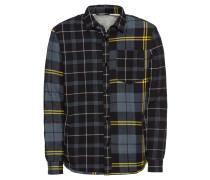 Hemd 'flannel Teddy' gelb / dunkelgrau
