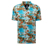 Hemd 'blossvale' blau