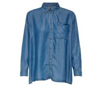 Oversized Jeanshemd blau