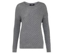 Strick-Pullover grau