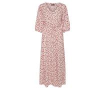 Kleid feuerrot / weiß
