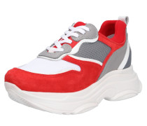 Sneaker grau / rot / weiß