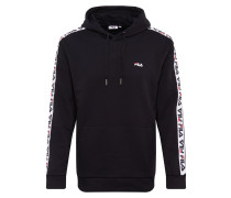 Sweatshirt 'david' schwarz / weiß