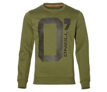 Sweatshirt basaltgrau / oliv