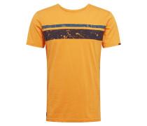 Shirt 'hake Organic' schwarz / gelb / blau