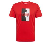 Shirt 'scarface' rot / schwarz / weiß