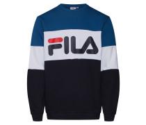 Sweatshirt himmelblau / schwarz / weiß