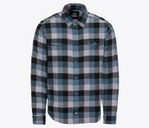 Hemd 'Luray' blau / schwarz