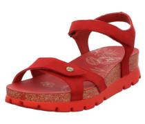 Sandalen/Sandaletten rot / gold