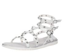 Sandale 'Joleen' silber / weiß