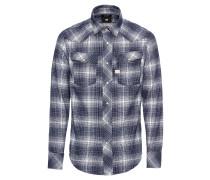 Hemd '3301 Shirt l/s' blau / weiß