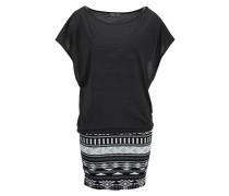2-in-1-Kleid grau / schwarz / weiß