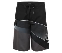Boardshorts 'Slash Fade' grau / schwarz