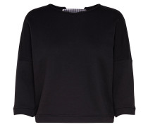 Detailliertes Sweatshirt schwarz / weiß