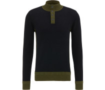 Pullover khaki / schwarz