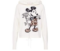 Sweatshirt 'Hoody with mickey' weiß