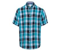 Hemd nachtblau / petrol / weiß