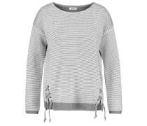 Pullover mit Schnürung grau / hellgrau