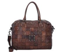 Centella Handtasche Leder 40cm braun