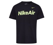 Shirt 'Nike Air' schwarz / limette