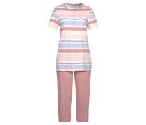 Pyjama hellblau / rosa / rosé / weiß