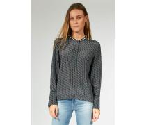Bluse mit Allover-Print schwarz