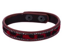 Armband grau / rot / schwarz