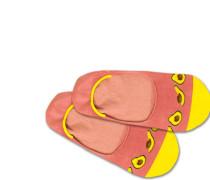 Füßlinge 'Hidden Avocado' gelb / rosa