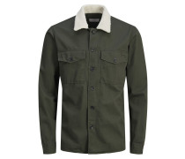 Hemd 'Shearling' khaki