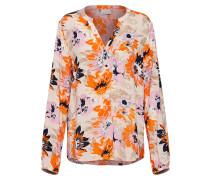 Bluse mischfarben / orange