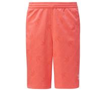 Shorts 'Monogram' koralle / weiß