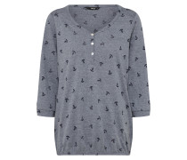 Shirt 'tatjana Mico' nachtblau / taubenblau