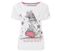 Shirt 'Business Bunny' weiß