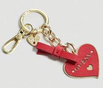 Schlüsselanhänger 'Charm Herz' gold / pink