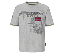 T-Shirt 'Sölve' grau / mischfarben