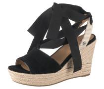 Sandaletten 'Siloh' beige / schwarz