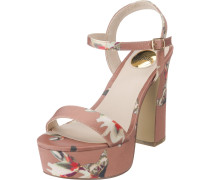 Sandaletten grau / rosé / hellrot / weiß