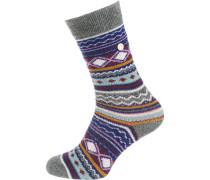 Socken blau / mischfarben