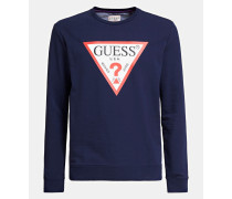 Sweatshirt kobaltblau / rot / weiß