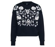 Sweater 'black' schwarz / weiß
