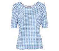 T-Shirt 'arinya' blau / weiß
