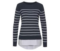 2-in-1-Pullover marine / weiß