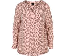 Bluse rosa / merlot / weiß