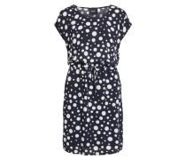 Kleid 'Objbay Dallas' nachtblau / weiß