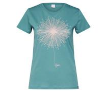 T-Shirt 'Blowball' grün / weiß