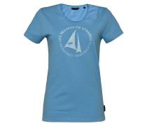 T-Shirt 'St. Barth' himmelblau / weiß