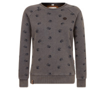 Sweatshirt 'Train harder' blau / braun